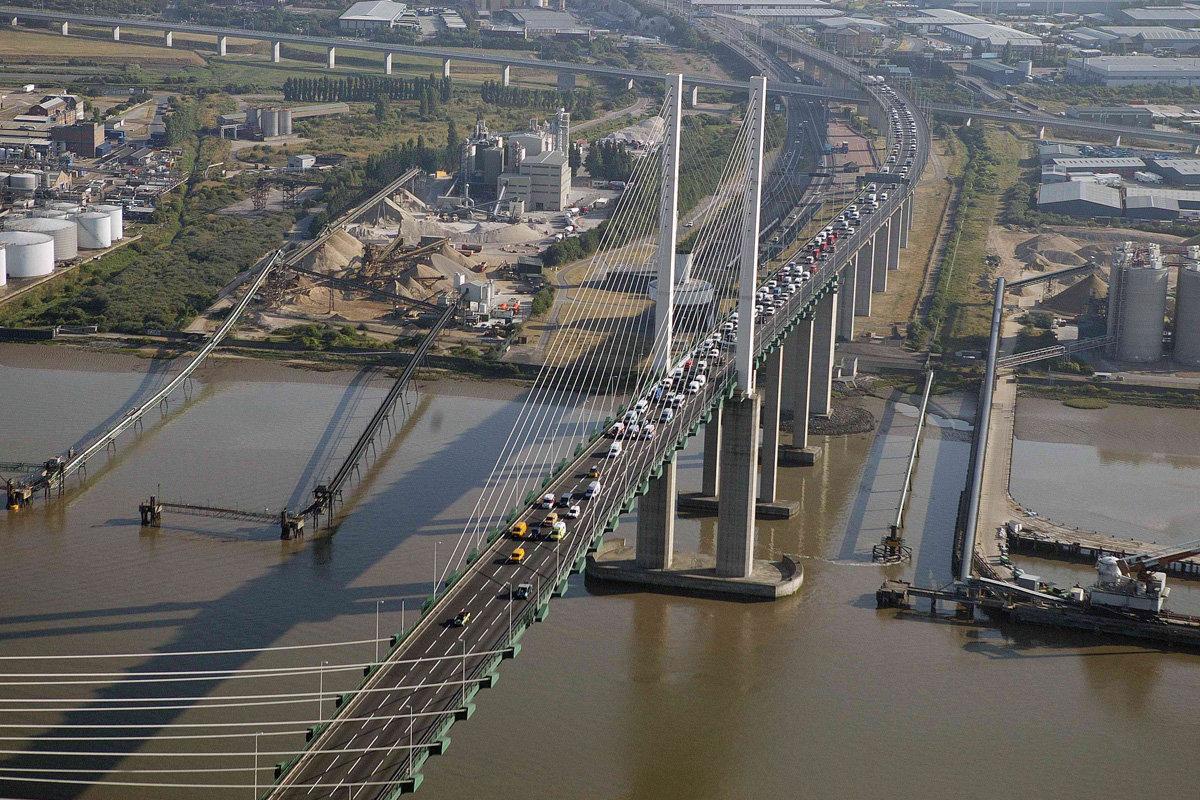 Dartford Bridge from the air
